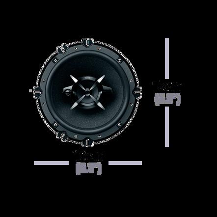"16cm (6.3"") 3-Way Mega Bass Coaxial Speakers"