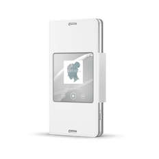 Style Cover with Smart Window for Xperia Z3 Compact (White)