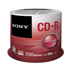 SONY 50 SPINDLE 48X CD-R DISC 700MB