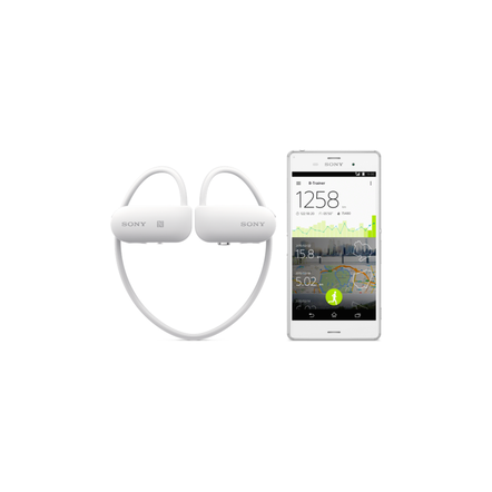 Wearable Music Player with Fitness Tracker (White)
