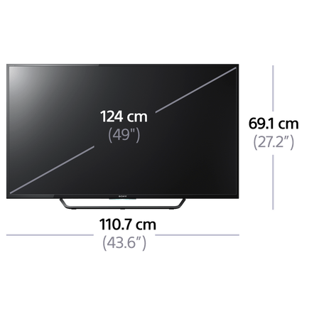 "49"" X8000C 4K TV with Android"