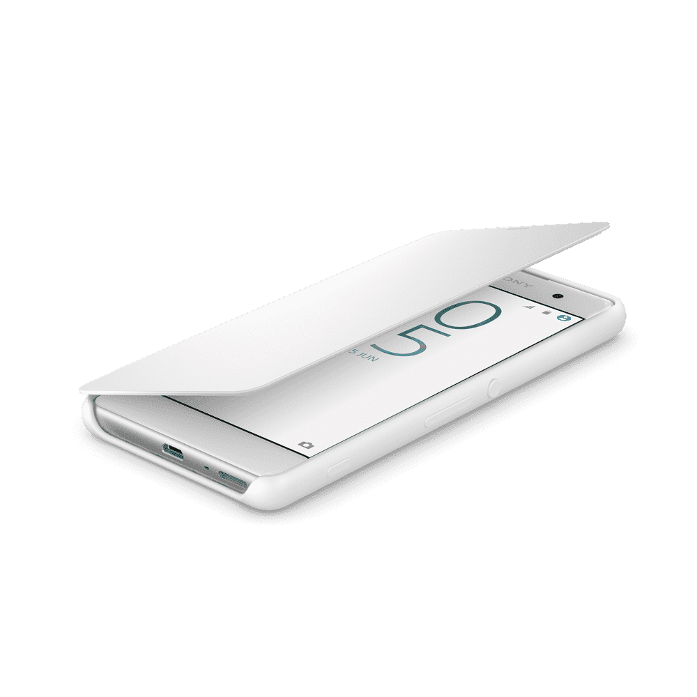 Style Cover Flip SCR54 for Xperia XA (White)