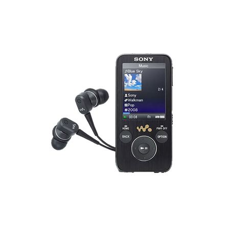 S Series Video MP3 8GB Walkman with Built-in Noise Cancelling (Black), , hi-res
