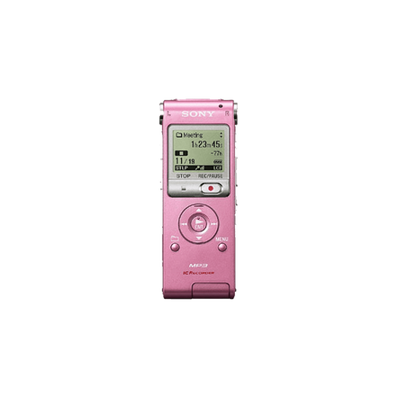 2GB UX Series MP3 Digital Voice IC Recorder (Pink)