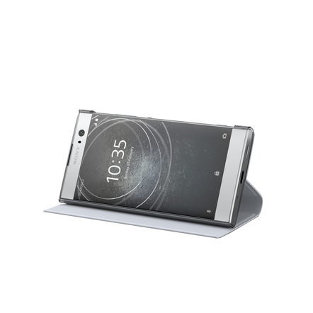 Style Cover Stand SCSH10 for Xperia XA2 (Silver)