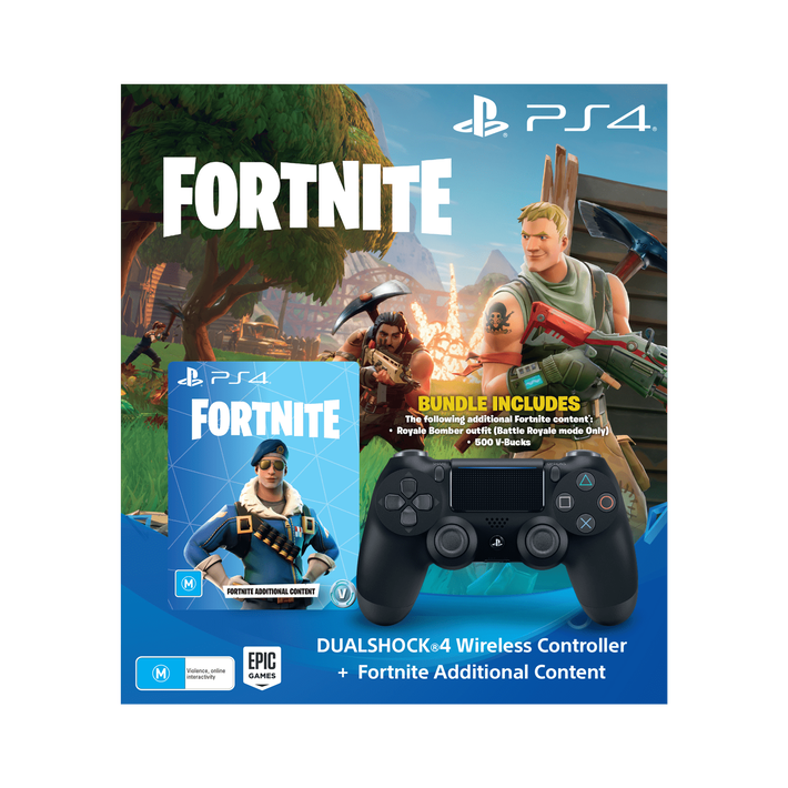 PlayStation4 DualShock Wireless Controllers (Black) Bundle with Fortnite additional content, , product-image