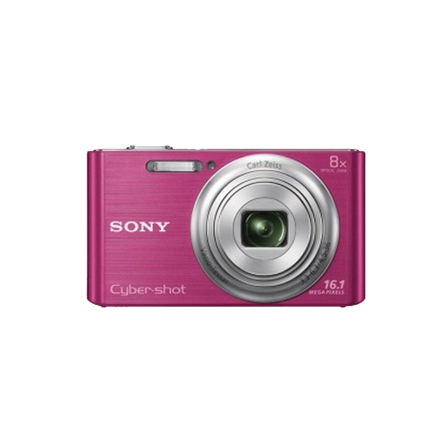 16.1 Megapixel W Series 8X Optical Zoom Cyber-shot Compact Camera (Pink), , hi-res
