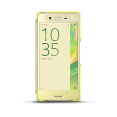 Style Cover Touch SCR56 for Xperia X Performance (Lime Gold)