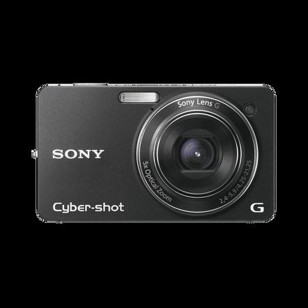 10.2 Megapixel W Series 5X Optical Zoom Cyber-shot Compact Camera (Black), , hi-res