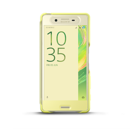 Style Cover Touch SCR50 for Xperia X (Lime Gold), , hi-res
