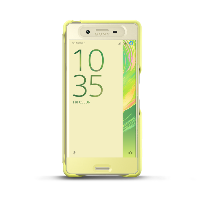 Style Cover Touch SCR50 for Xperia X (Lime Gold), , product-image