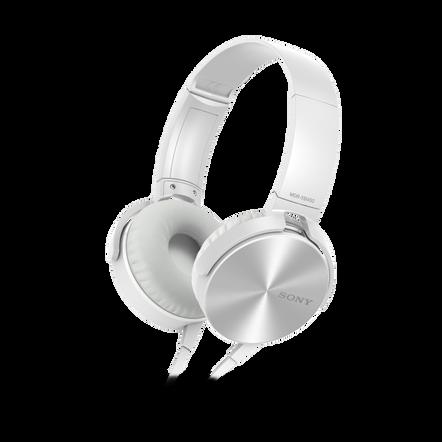 XB450AP EXTRA BASS Headphones (White), , hi-res