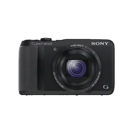 18.2 Megapixel H Series 20X Optical Zoom Cyber-shot Compact Camera (Black), , hi-res
