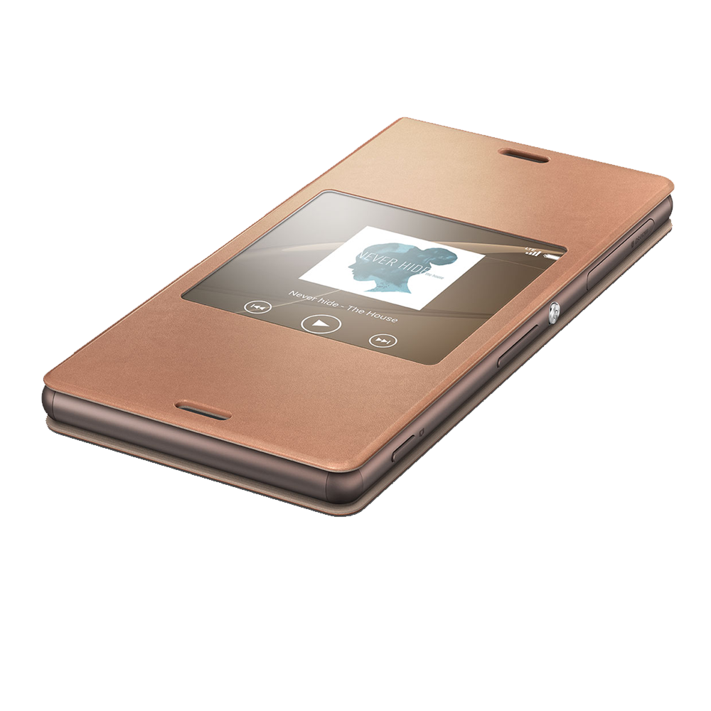 Style Cover Window for Xperia Z3 - SCR24 (Copper), , product-image