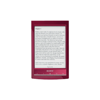 Reader Wi-Fi Touch with 6.0 Paper-Like Touch Screen and Expandable Memory (Red), , hi-res