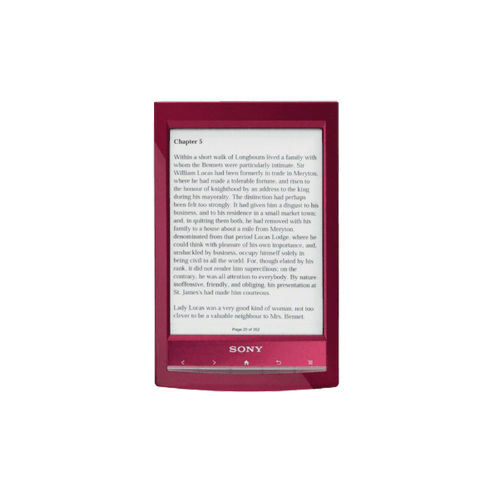 Reader Wi-Fi Touch with 6.0 Paper-Like Touch Screen and Expandable Memory (Red), , product-image