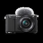 ZV-E10 | Interchangeable Lens Vlog Camera with 16-50mm Lens Kit (Black), , hi-res