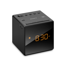Single Alarm Clock Radio (Black)