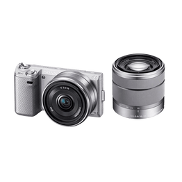 NEX-5 Twin Lens Kit with SEL16& SEL1855mm Lenses (Silver), , hi-res