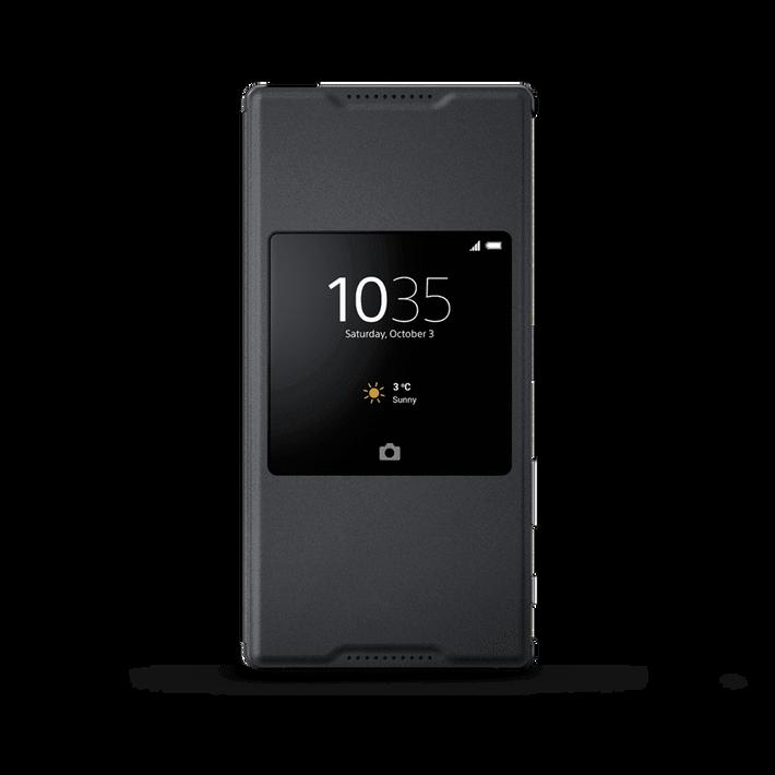 Style Cover Stand SCR46 for Xperia Z5 Premium (Graphite Black), , product-image