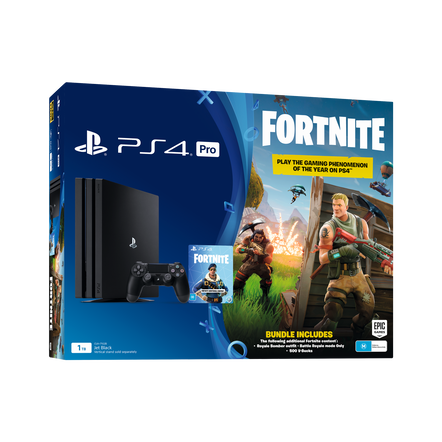 PlayStation4 Pro 1TB Console with Fortnite Bonus Digital Content (Black)