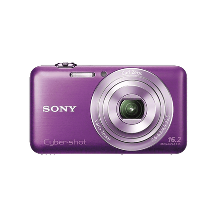 16.2 Megapixel W Series 5X Optical Zoom Cyber-shot Compact Camera (Violet)
