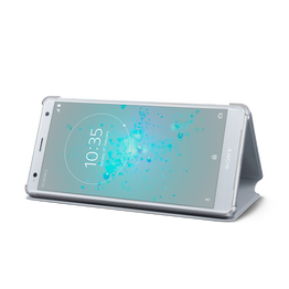 Style Cover Stand SCSH40 for Xperia XZ2 (Grey), , hi-res