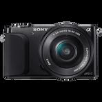 16.1 Megapixel Camera Body (Black) with SELP1650 Lens, , hi-res