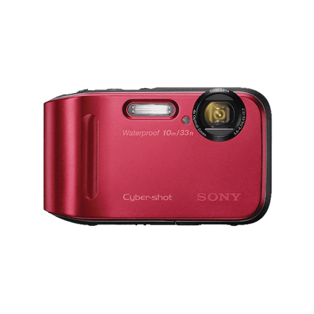 16.1 Megapixel T Series 4X Optical Zoom Cyber-shot Compact Camera (Red), , hi-res