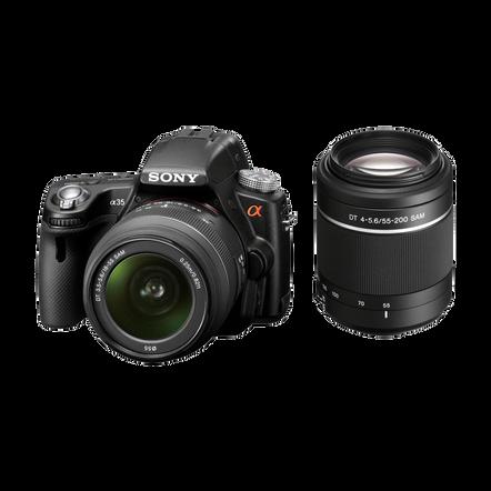 A35 Digital SLT 16.2 Mega Pixel Camera with SAL1855 and SAL55200 Lens, , hi-res