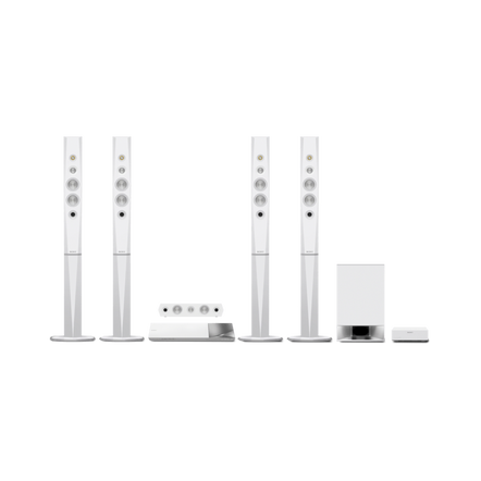 5.1 3D Blu-ray Disc Home Theatre with Bluetooth (White), , hi-res