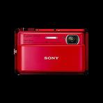 16.2 Megapixel T Series 4X Optical Zoom Cyber-shot Compact Camera (Red), , hi-res