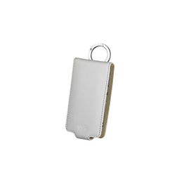 Leather Carrying Case for Video MP3 Walkman (White)