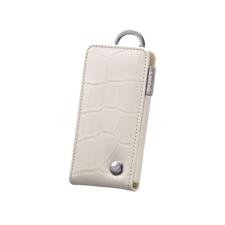 Leather Carrying Case for Walkman Video MP3 Players (White)