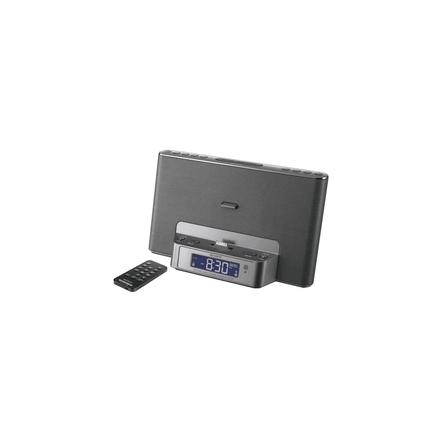iPod and iPhone Dock Clock Radio (Silver), , hi-res