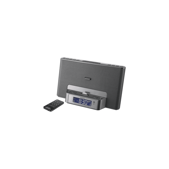 iPod and iPhone Dock Clock Radio (Silver), , product-image