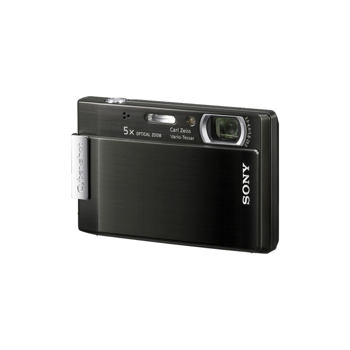 8.1 Megapixel T Series 5X Optical Zoom Cyber-shot Compact Camera (Black), , product-image