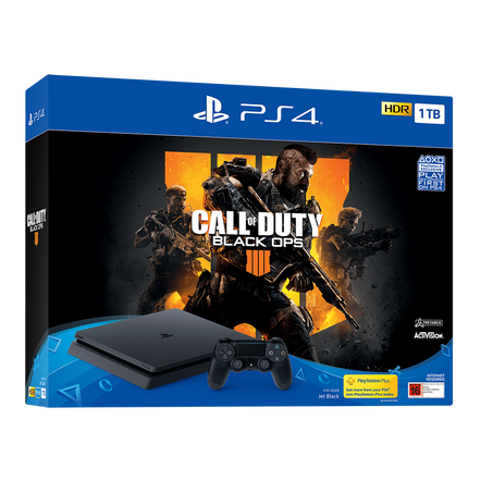 PlayStation4 Slim 1TB Console with Call of Duty: Black Ops 4
