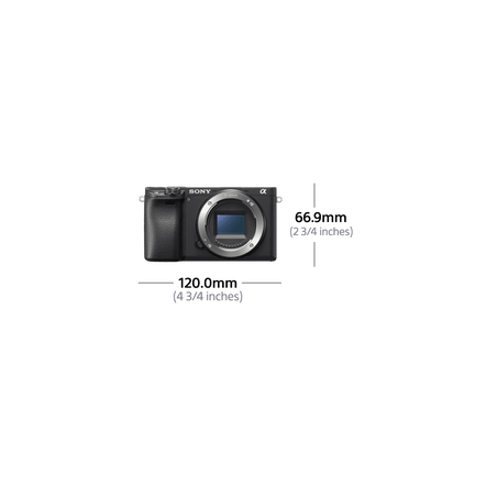 Alpha 6400 Premium Digital E-Mount Camera with APS-C Sensor (Black Body), , hi-res