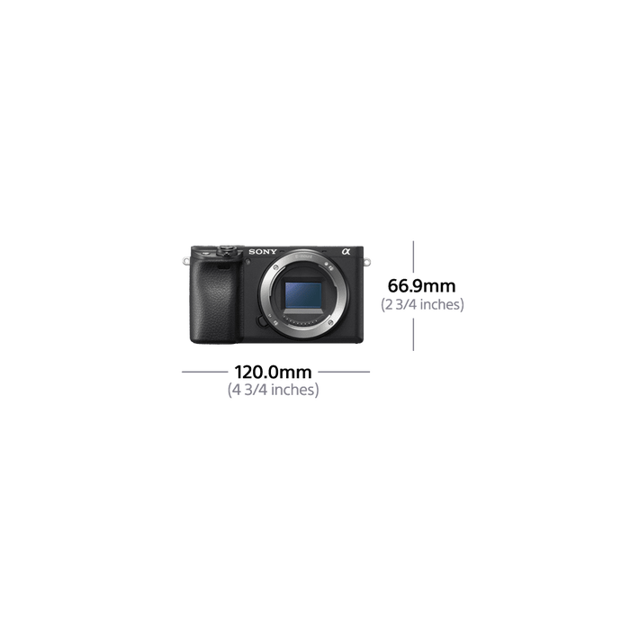 Alpha 6400 Premium Digital E-Mount Camera with APS-C Sensor (Black Body), , product-image