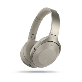 1000X Noise Cancelling Bluetooth Headphones (Cream), , hi-res