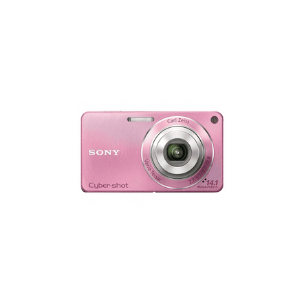 14.1 Megapixel W Series 4X Optical Zoom Cyber-shot Compact Camera (Pink), , hi-res