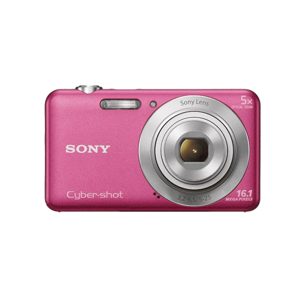 16.1 Megapixel W Series 5X Optical Zoom Cyber-shot Compact Camera (Pink)