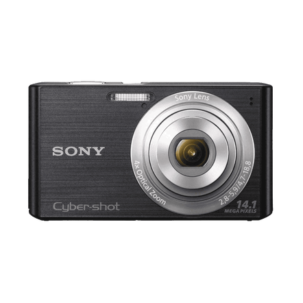 14.1 Megapixel W Series 4X Optical Zoom Cyber-shot Compact Camera (Black)