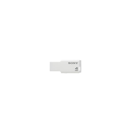 4GB USB Micro Vault Tiny (White)