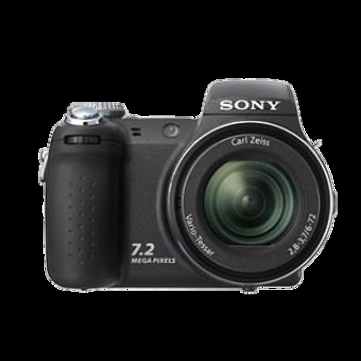 7.2 Megapixel H Series 12X Optical Zoom CyberShot (Black), , product-image