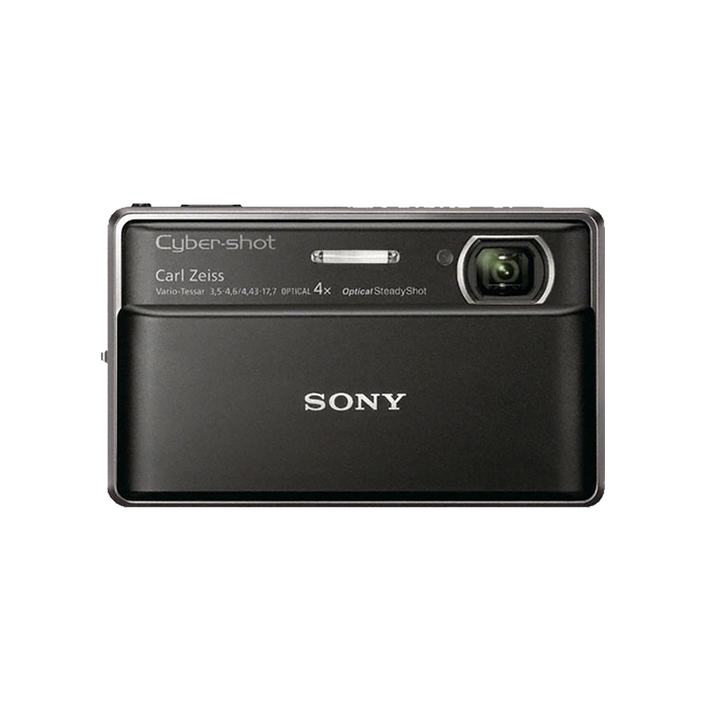16.2 Megapixel T Series 4X Optical Zoom Cyber-shot Compact Camera (Black), , product-image