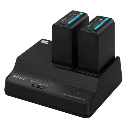 BCU-2A 2-Channel Simultaneous Battery Charger/AC Adaptor For BP-U Series Batteries, , hi-res