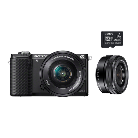 Alpha 5000 E-mount Camera and 16-50 mm Zoom Lens with 8 GB Memory Card, , hi-res