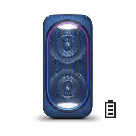 EXTRA BASS High Power Home Audio System with Battery (Blue), , hi-res